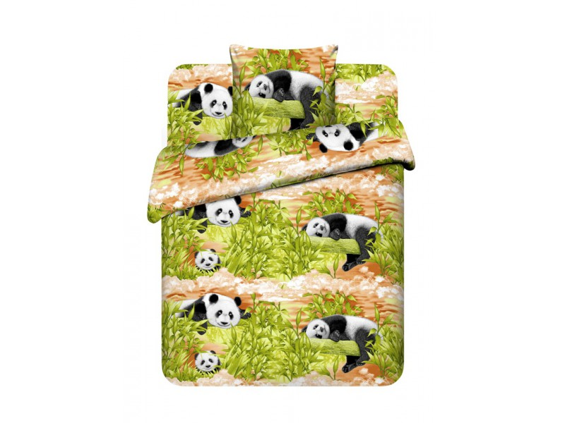 """Постельное белье """"Бамбуковые мишки"""" (бязь) 1,5 спальный"""