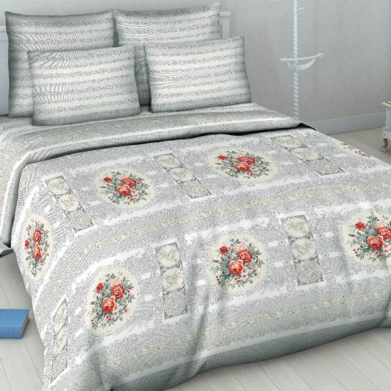 """Постельное белье """"Королевский фарфор"""" серый (бязь) 1,5 спальный"""