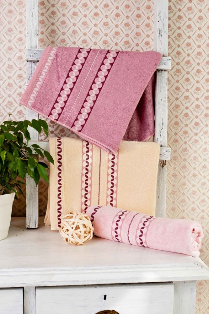"Бамбуковое полотенце ""Зерна"" (65х135)"