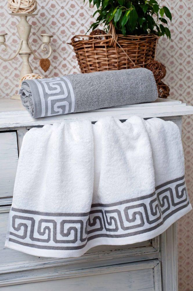 Полотенце Греческий орнамент 50х90Банные полотенца<br>Греция - одна из самых первых стран, сделавших водные процедуры для человека не просто необходимостью, а удовольствием для души и тела. И сегодня вы можете внести в свою ванную немножко Древней Греции!Полотенце с греческим орнаментом, выполненным в благородных - сером и белом - цветах, не только украсит вашу ванную комнату, но и позаботится о вашей коже. Плотный материал не просто обладает высоким качеством, но и довольно приятен на ощупь.Приобретите полотенце с греческим орнаментом и превратите обычные водные процедуры в настоящее удовольствие! Классический, благородный бордюр, два оттенка, повышенная плотность, наряду с высококачественным 100% хлопком, активное особо-стойкое крашение. Размер: 50х90<br><br>Принадлежность: Для дома<br>По назначению: Повседневные<br>Основной материал: Махра<br>Страна - производитель ткани: Sunvim Co. Ltd., Китай.<br>Вид товара: Полотенца<br>Материал: Махра<br>Плотность: 350 г/кв. м.<br>Состав: 100% хлопок<br>Длина: 19<br>Ширина: 16<br>Высота: 8<br>Размер RU: 50х90
