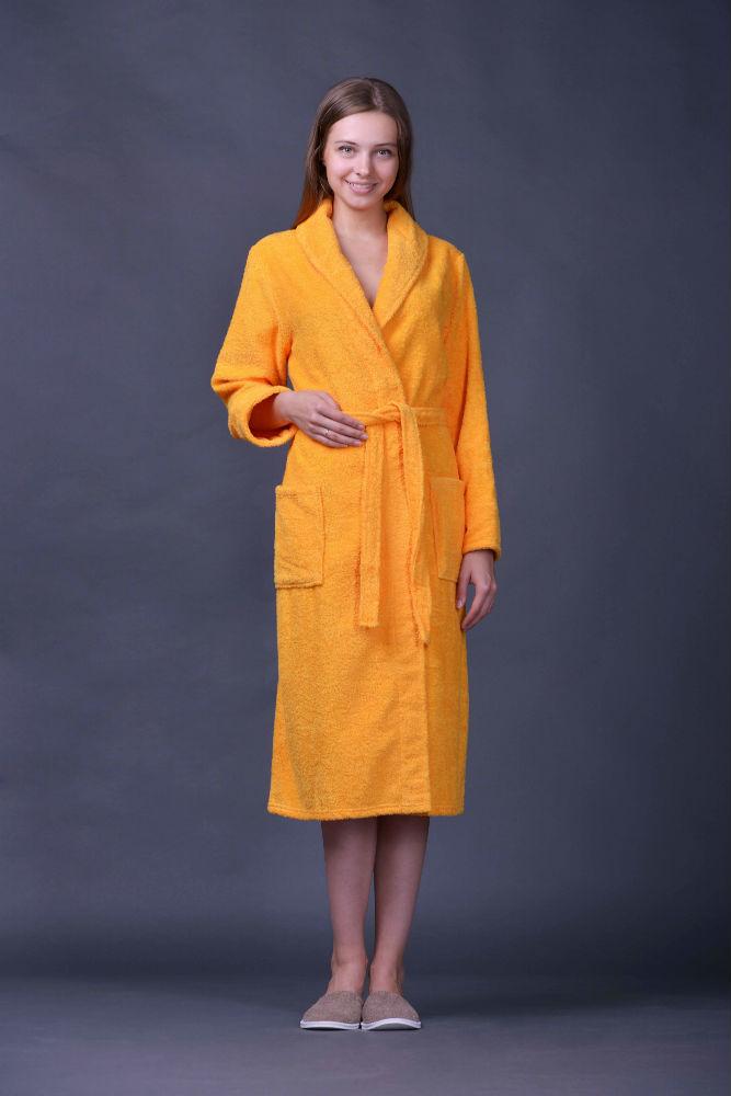 Халат женский махровый ЭлегияТеплые халаты<br>Халату мало иметь удобный фасон, чтобы его носили с комфортом. Для халата также важно качество ткани, использованной для его пошива.<br>Например, женский домашний халат Элегия сшит из махры, мягкой хлопковой ткани, которая обладает большим набором полезных свойств: хорошая теплопроводность, гигроскопичность, устойчивость перед деформациями после контакта с влагой и т.д.<br>И при всем этом женский домашний халат Элегия имеет удобный крой, запах, два довольно вместительных кармана и пояс. Размер: 48<br><br>Принадлежность: Женская одежда<br>Основной материал: Махра<br>Страна - производитель ткани: Турция<br>Вид товара: Одежда<br>Материал: Махра<br>Плотность: 310 г/кв. м.<br>Состав: 100% хлопок<br>Длина рукава: Длинный<br>Длина: 30<br>Ширина: 20<br>Высота: 11<br>Размер RU: 48