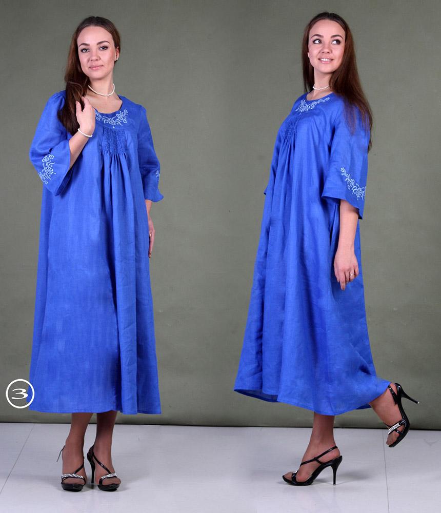 Льняное платье с вышивкой Каролина (большемерка)Платья<br>Размер: 52<br><br>Длина платья: Макси<br>Основной материал: Лен<br>Страна - производитель ткани: Россия, г. Пучеж<br>Вид товара: Одежда<br>Материал: Лен<br>Длина: 19<br>Ширина: 17<br>Высота: 9<br>Размер RU: 52