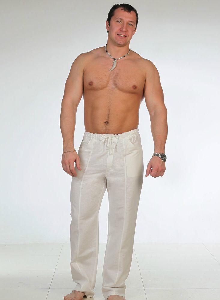 Брюки мужские из льна СпортсменДомашние брюки<br>Размер: 52<br><br>Принадлежность: Мужская одежда<br>Основной материал: Лен<br>Страна - производитель ткани: Россия, г. Пучеж<br>Вид товара: Одежда<br>Материал: Лен<br>Длина: 19<br>Ширина: 17<br>Высота: 9<br>Размер RU: 52