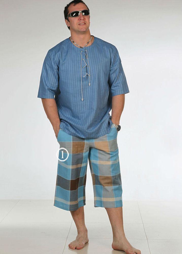 Бермуды льняные ГавайиШорты<br>Предпочитаете неизменную классику и практичные, функциональные вещи, которые через месяц не выйдут из моды? Может показаться, что это невозможно, но на практике все куда проще. Вам - льняные бермуды Гавайи!<br>Лен - один из древнейших материалов, история которого исчисляется столетиями. Еще в давние времена льняную одежду носили монахи, ведь в христианстве он символизировал собой чистоту, при этом оставаясь практичным, удобным и простым в изготовлении.<br>Гавайи - классические мужские бермуды традиционного кроя. В боковых швах - удобные и практичные карманы для полезных мелочей. Такие клетчатые шорты - оптимальный вариант на лето либо для отдыха. Размер: 54<br><br>Принадлежность: Мужская одежда<br>Основной материал: Лен<br>Страна - производитель ткани: Россия, г. Пучеж<br>Вид товара: Одежда<br>Материал: Лен<br>Длина: 18<br>Ширина: 12<br>Высота: 7<br>Размер RU: 54
