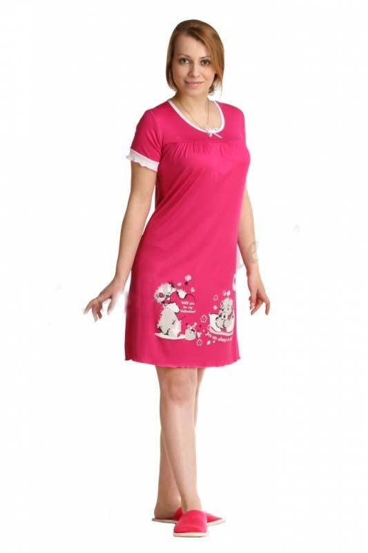 Ночная сорочка ШэйлаСорочки и ночные рубашки<br>Размер: 56<br><br>Принадлежность: Женская одежда<br>Основной материал: Вискоза<br>Страна - производитель ткани: Россия, г. Иваново<br>Вид товара: Одежда<br>Материал: Вискоза<br>Длина рукава: Короткий<br>Длина: 18<br>Ширина: 12<br>Высота: 7<br>Размер RU: 56