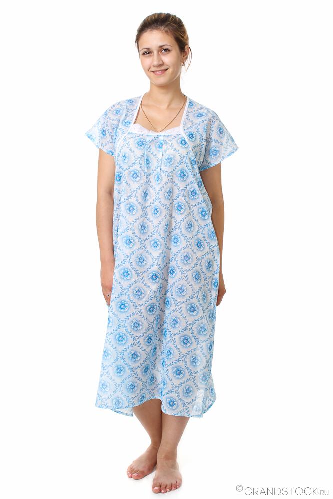 Ночная сорочка КлеомаСорочки и ночные рубашки<br>Размер: 46<br><br>Принадлежность: Женская одежда<br>Основной материал: Ситец<br>Страна - производитель ткани: Россия, г. Иваново<br>Вид товара: Одежда<br>Материал: Ситец<br>Длина по спинке : 54 размер - 110 см<br>Состав: 100% хлопок<br>Длина: 18<br>Ширина: 12<br>Высота: 7<br>Размер RU: 46