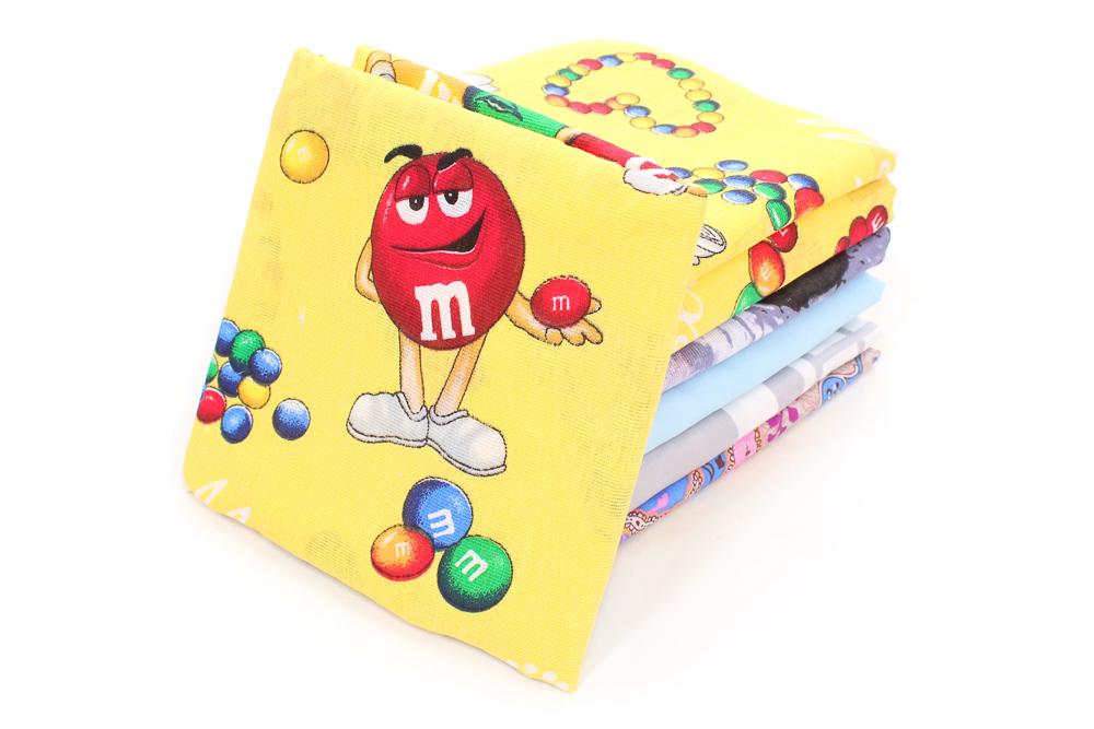 Наволочки детские бязь в ассортименте (пл. 105 грамм) (в упаковке 2 шт) 40*40
